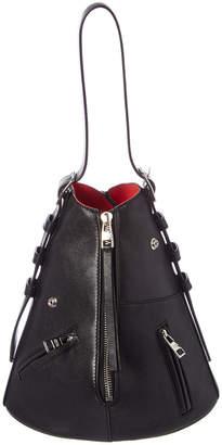 Alexander McQueen Biker Zip Leather Shoulder Bag