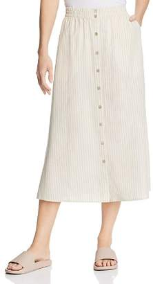 Eileen Fisher Striped Button-Down Midi Skirt