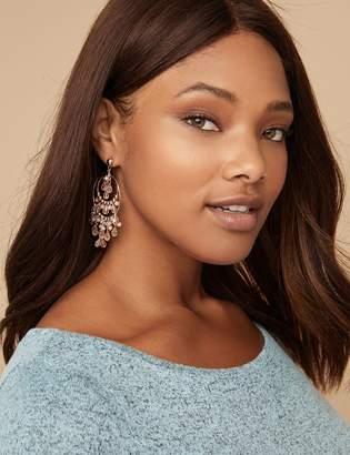 Lane Bryant Beaded Double Circle Chandelier Earrings