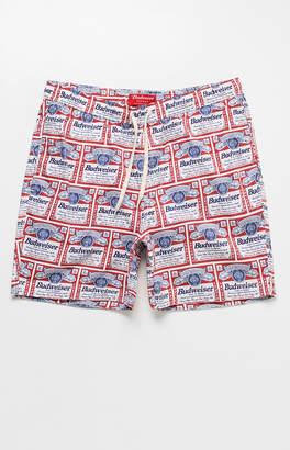 "Trunks Pacsun x Budweiser Allover Label Print 17"" Swim"