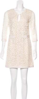 J. Mendel Lace Mini Dress