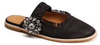 Bill Blass Addy Rhinestone Embellished Slip-On Mule
