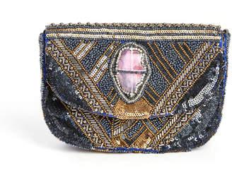 G Lish G-Lish Agate Beaded Crossbody Bag
