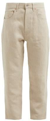 Junya Watanabe Straight Leg Linen Jeans - Womens - Beige