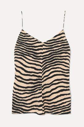 By Malene Birger Lacia Zebra-print Crepe Camisole - Zebra print