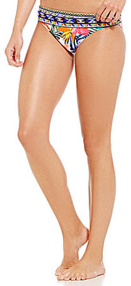 La Blanca Tropicali Shirred Banded Hipster Bottom $61 thestylecure.com