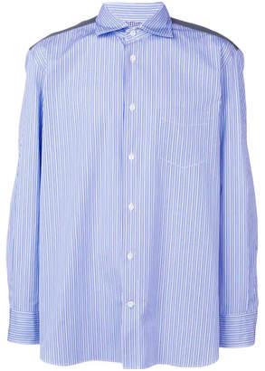 Comme des Garcons Junya Watanabe Man Junya Watanabe Man camo panel stripe shirt