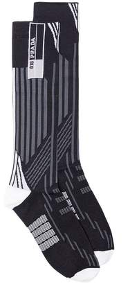 Prada Knee high striped socks