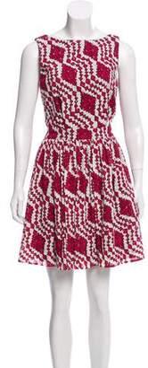 Thakoon Printed Eyelet Dress