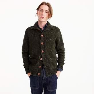 J.Crew Donegal wool mockneck cardigan sweater