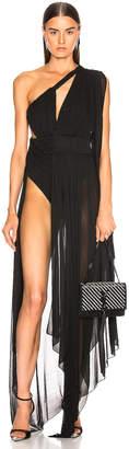 Saint Laurent Cutout Dress in Black | FWRD