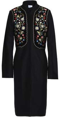 Vilshenko Embellished Embroidered Wool-Blend Coat