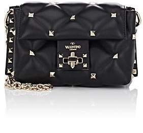 Valentino Women's Candystud Mini Leather Shoulder Bag - Black