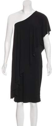 Norma Kamali Kamalikulture x Draped One-Shoulder Dress