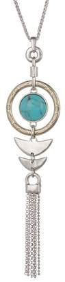 Lucky Brand Turquoise Fish Pendant Necklace
