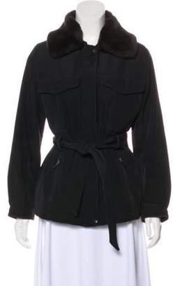 Andrew Marc Faux Fur-Trimmed Jacket Black Faux Fur-Trimmed Jacket