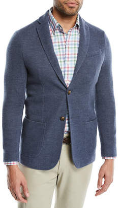 Peter Millar Crown Cashmere Knit Two-Button Blazer