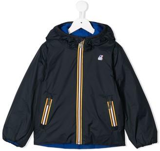 K Way Kids contrast zip-front reversible jacket