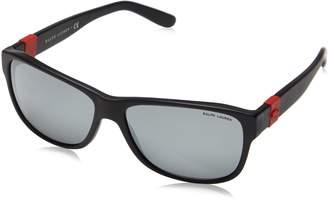 Ralph Lauren Men's 0RL8131 Rectangular Sunglasses