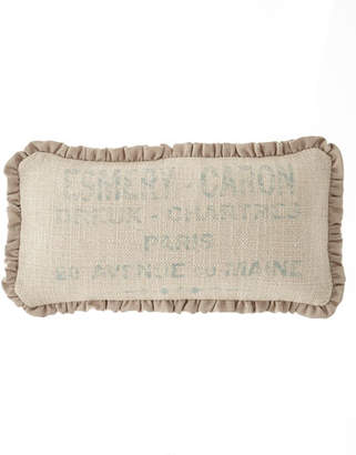 "French Laundry Home Alyssa Pillow, 10"" x 20"""