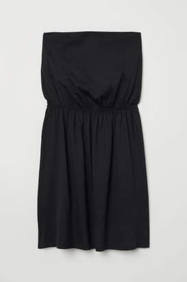 H&M Strapless Jersey Dress - Black