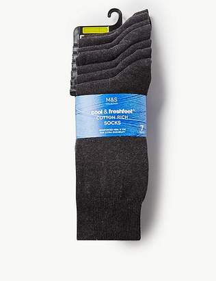 Marks and Spencer 7 Pack Cool & FreshfeetTM Cotton Rich Socks