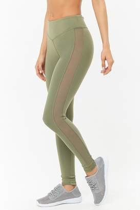 Forever 21 Active Mesh Panel Leggings