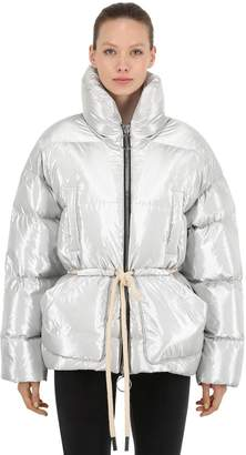 Ienki Ienki Mishko Nylon Down Jacket W/ Rope Belt