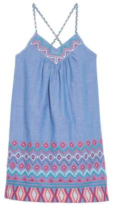 Peek Melia Embroidered Chambray Sundress