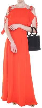Tory Burch Evalene Crepe Maxi Dress