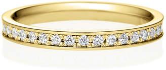 Brilliance+ (ブリリアンス+) - K18YG スクエア フレーム ダイヤモンド ハーフエタニティ リング 2.4mm