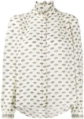 Masscob floral print sheer blouse