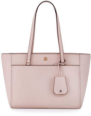 Tory Burch Robinson Small Saffiano Leather Zip-Top Shoulder Tote Bag