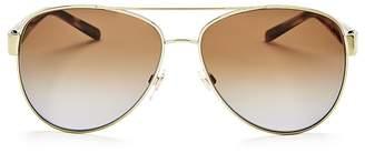 Burberry Men's Polarized Brow Bar Aviator Sunglasses, 60mm