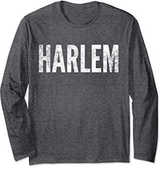 Harlem Long Sleeve Tshirt Distressed Graphic Tee