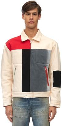 Diesel Gr Uniforma X Red Tag Patchwork Cotton Canvas Jacket