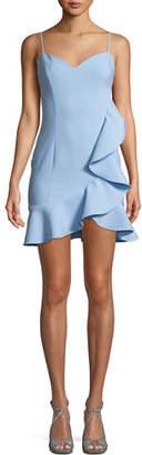 LIKELY Laverna Draped Ruffle Mini Dress