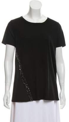 Magaschoni Silk Jewel Embellished Top