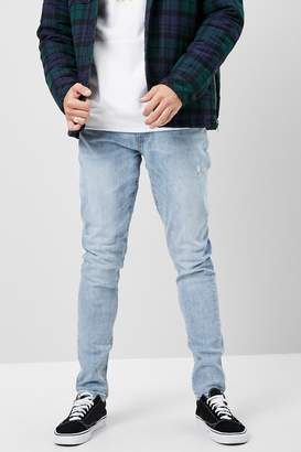 Forever 21 Faded Wash Skinny Jeans
