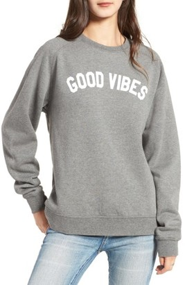 Women's Sub_Urban Riot Good Vibes Willow Sweatshirt $58 thestylecure.com