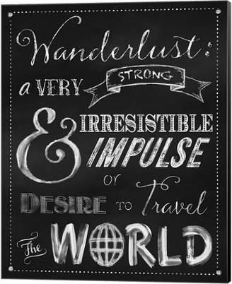 Wanderlust Metaverse Chalkboard Travel Series By Tina Lavoie Canvas Art