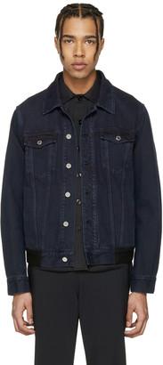 Givenchy Blue Denim Back Tape Jacket $1,350 thestylecure.com