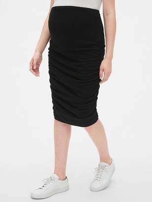 a3e9bf23f44 Gap Maternity Full Panel Ruched Pencil Skirt
