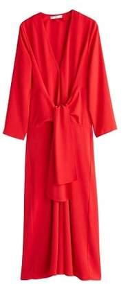 MANGO Flowy knotted dress