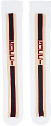 Gucci Men's Racer-Stripe Cotton-Blend Mid-Calf Socks