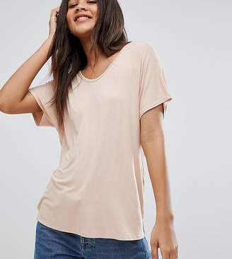 Asos Tall DESIGN Tall t-shirt with drapey batwing sleeve in pink