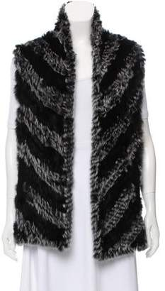 Marc by Marc Jacobs Knitted Rabbit Fur Vest