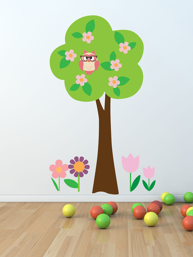 Owl & Tree Wall Decals