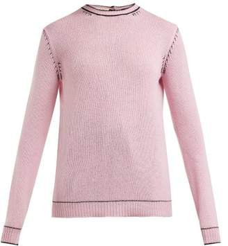 Marni Buttoned Back Cashmere Sweater - Womens - Light Pink