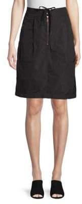 Tomas Maier Drawstring A-Line Skirt